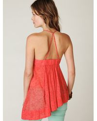 Free People - Red Fp New Romantics T-back Cami Tunic - Lyst