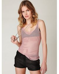 Free People | Pink Chunky Fishnet Top | Lyst