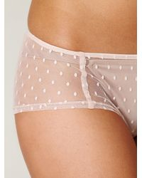 Free People - Pink Ruched Back Hipster - Lyst