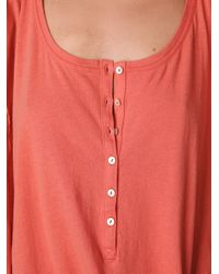Free People - Brown Button Up Jam Shirt - Lyst