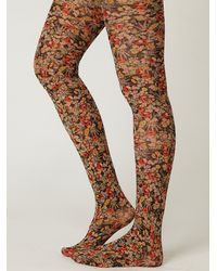 Free People | Multicolor Lalique Floral Tight | Lyst