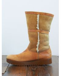 Free People | Brown Vintage Bass Snow Boots | Lyst