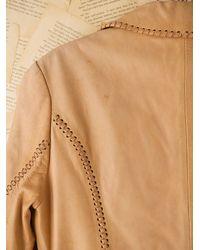 Free People - Brown Vintage Hand Painted Leather Jacket - Lyst