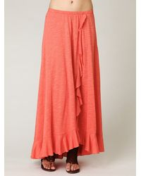 Free People | Red Cascade Convertible Skirt | Lyst