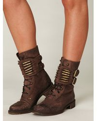 Free People | Brown Bullet Boot | Lyst