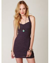 Free People - Purple Tribal Jacquard Body Con Dress - Lyst