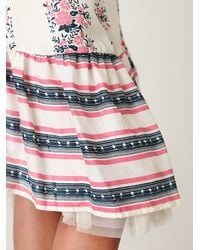 Free People - White Easy Summer Day Dress - Lyst