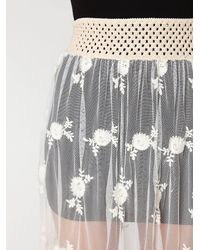 Free People | White Provincial Embroidered Maxi Skirt | Lyst