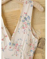 Free People | White Vintage Printed Slip Dress | Lyst