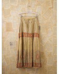 Free People - Red Vintage Beaded Indian Wedding Skirt - Lyst