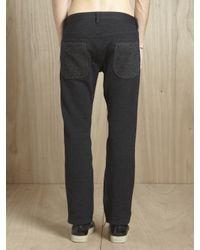 Junya Watanabe Gray Mens Wool Jersey Panel Pants for men