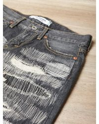Junya Watanabe - Black Womens Distressed Patchwork Jeans - Lyst