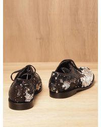 Junya Watanabe Black Junya Watanabe Womens Reversible Sequinned Shoes