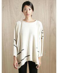 Lauren Manoogian | White Womens Alpaca Wool Blanket Pullover | Lyst