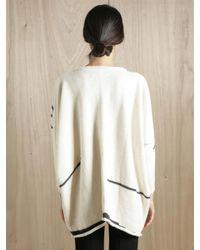 Lauren Manoogian - White Womens Alpaca Wool Blanket Pullover - Lyst