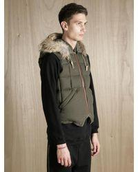 Nigel Cabourn | Green X Eddie Bauer Men S Goose Down And Coyote Fur Desert Wax Vest for Men | Lyst