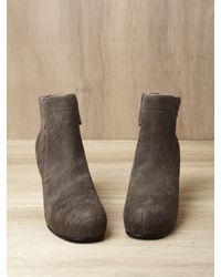 Rick Owens Brown Wedge Boots