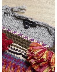 SUNO Multicolor Chunky Knit Vest