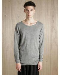 The Inoue Brothers Gray Mens Royal Alpaca Sweater for men