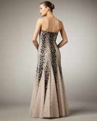 Alberto Makali | Brown Two-tone Strapless Mermaid Gown | Lyst