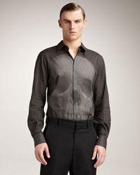 Alexander McQueen | Black Dot-print Skull Shirt for Men | Lyst