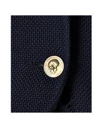 Alexander McQueen | Blue Navy Oxford Cotton Two Button Blazer for Men | Lyst