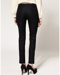 ASOS Collection | Black Asos Petite Exclusive Lace Skinny Trousers | Lyst