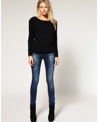 ASOS Collection - Blue Asos Supersoft Ultra Skinny Jean  - Lyst