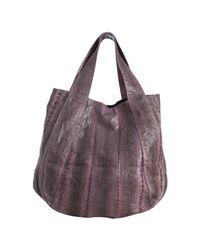 Beirn | Purple Lavender Snakeskin Jenna Top Handle Bag | Lyst