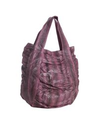 Beirn | Pink Bubblegum Snakeskin Jenna Ruched Top Handle Bag | Lyst