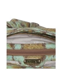 Botkier - Green Jade Snakeskin Embossed Studded Leather Maddie Shoulder Bag - Lyst