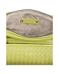 Bottega Veneta - Green Assenzio Intrecciato Ombre Leather Crossbody Bag - Lyst