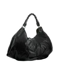 Bottega Veneta | Black Leather Aquilone Triangle Hobo | Lyst