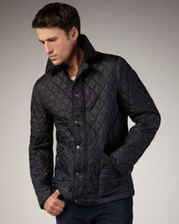 Burberry Brit - Black Classic Quilted Jacket for Men - Lyst