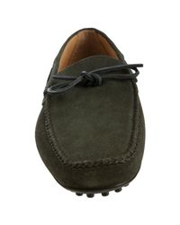 Car Shoe - Army Green Suede Boatstitch Moc Loafers for Men - Lyst
