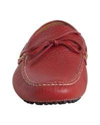 Car Shoe - Red Deerskin Driving Loafers for Men - Lyst