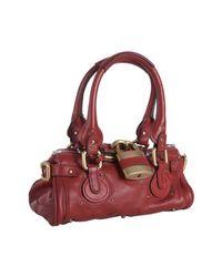 Chloé | Red Cherry Leather Paddington Mini Satchel | Lyst