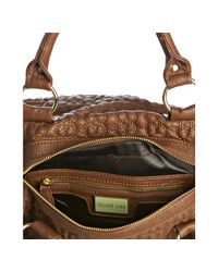 Deux Lux - Brown Saddle Quilted Heart Love Drops Duffle Bag - Lyst