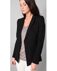 DKNY - Black Notched Collar Jacket - Lyst