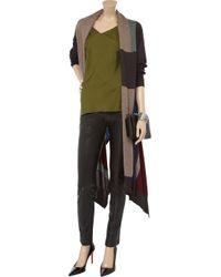 DKNY Brown Merino Wool Fine-knit Cardigan