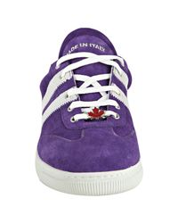DSquared²   Purple Viola Suede Striped Sneakers for Men   Lyst