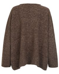 Eskandar | Brown Tweed Knitted Jumper | Lyst