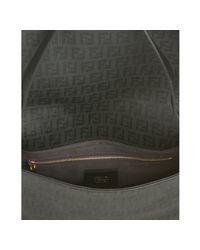 Fendi | Black Zucchino Spalmati Mamma Forever Shoulder Bag | Lyst