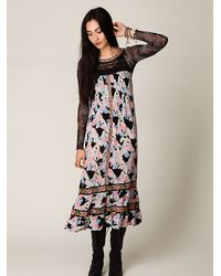 Free People | Multicolor Flower Explosion Dress | Lyst