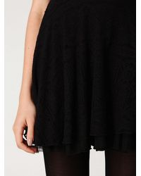 Free People | Black Scallop Strapless Dress | Lyst