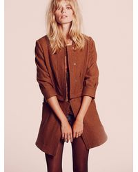 Free People - Natural Convertible Wool Coat - Lyst