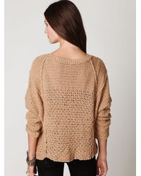 Free People | Natural Laguna Coast V-neck Pullover | Lyst