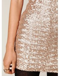 Free People - Metallic Sequin Fever Bodycon Dress - Lyst