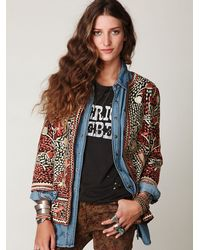 Free People | Multicolor Embroidered Midtown Jacket | Lyst