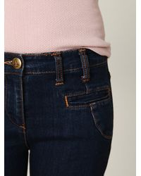 Free People - Blue 5-pocket Flare Jean - Lyst
